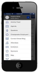 Mobile MACo - menu