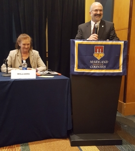 From left to right: Council Member Jennifer Williams, George Kaloroumakis