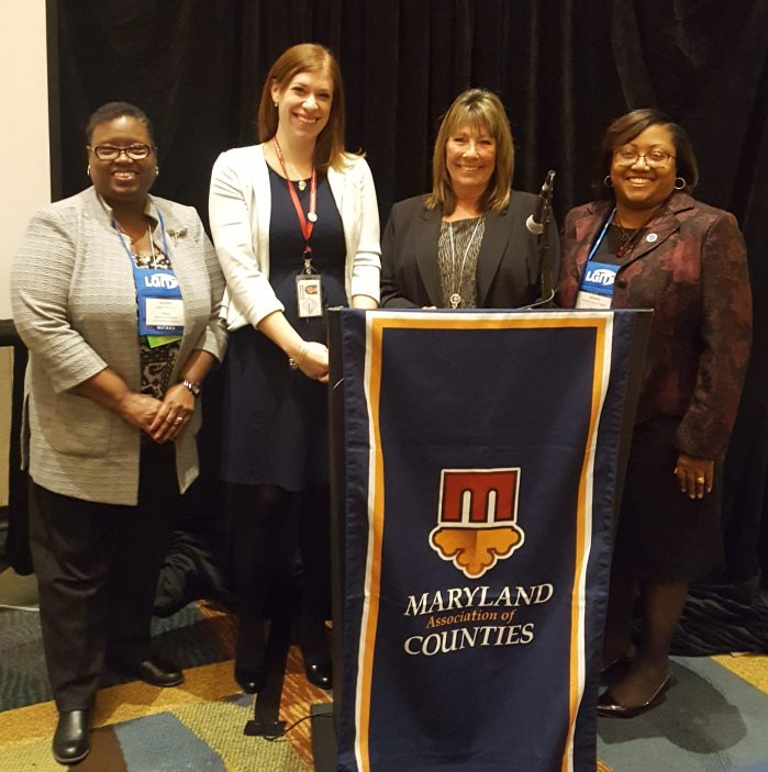 From left to right: Joanne Williams, Morgan DeWeese, Linda Willis, Delegate Sheree Sample-Hughes